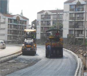 Picture - DBM laying along Hospital Km 0+700 RHS